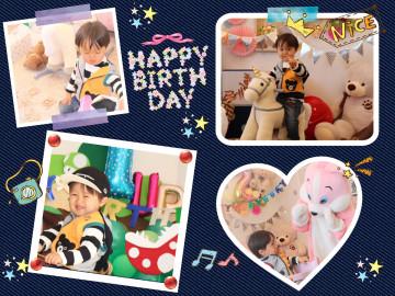 「小諸市のSくん」2歳のお誕生日:みんなから沢山のプレゼントがあり大喜びでした。白馬も乗りこなして小さな王子様になりました。